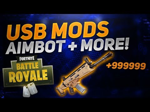 Fortnite: Battle Royale USB MOD MENU | AIMBOT! XBOX, PS4, PC | FORTNITE USB MODS/HACKS 2018