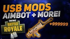 fortnite battle royale usb mod menu aimbot xbox ps4 pc fortnite usb mods hacks 2018 duration 5 53 - fortnite pc mod menu