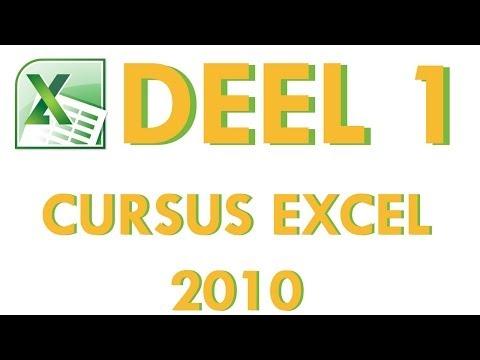 Cursus Excel 2010 Deel 1a: Introductie tot Excel 2010