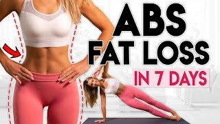 постер к видео INTENSE ABS FAT LOSS in 7 Days (lose belly fat) | 10 minute Workout
