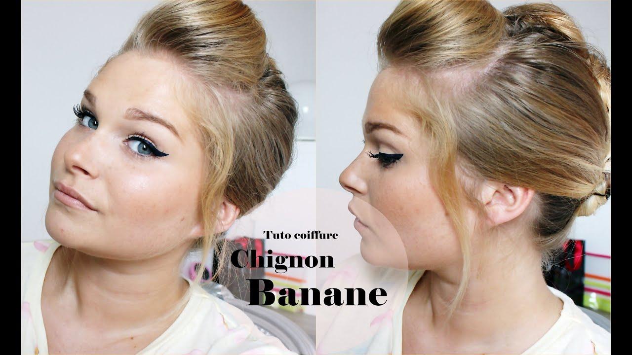 1 tutoriel coiffure chignon banane youtube. Black Bedroom Furniture Sets. Home Design Ideas