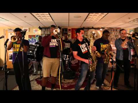 "WHUS Studio Sessions: Funky Dawgz Brass Band Performs ""Uptown Funk"""