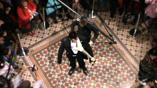 Amazing Aerial Display Of Playing Violin In Qvb Building (part 4)