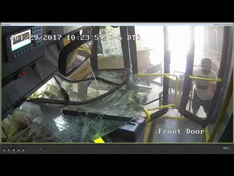 New video shows scary moments when VIA bus crashes into downtown building