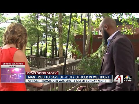 Man tried to save off-duty officer in Westport