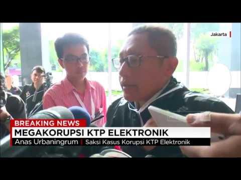 Anas Urbaningrum : Saya Akan Bantu KPK Bedakan Fitnah Dengan Fitnes - Kasus E-KTP