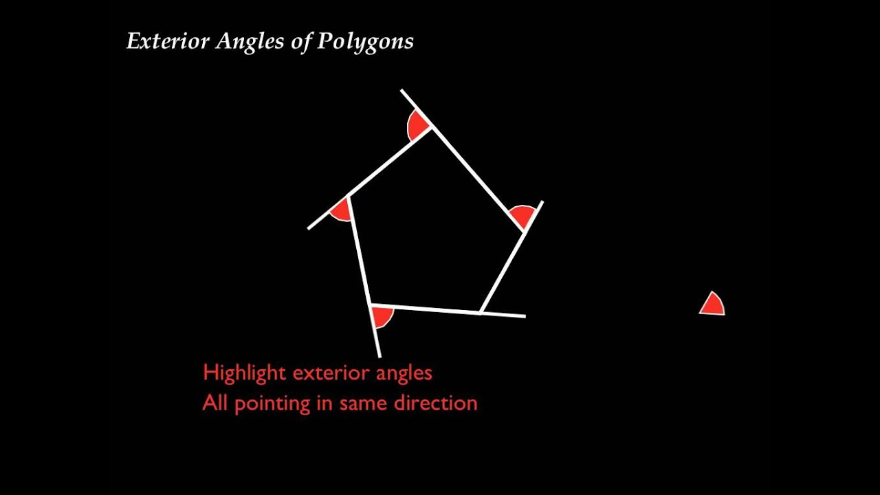 Exterior angles of polygons youtube - Sum of the exterior angles of a triangle ...