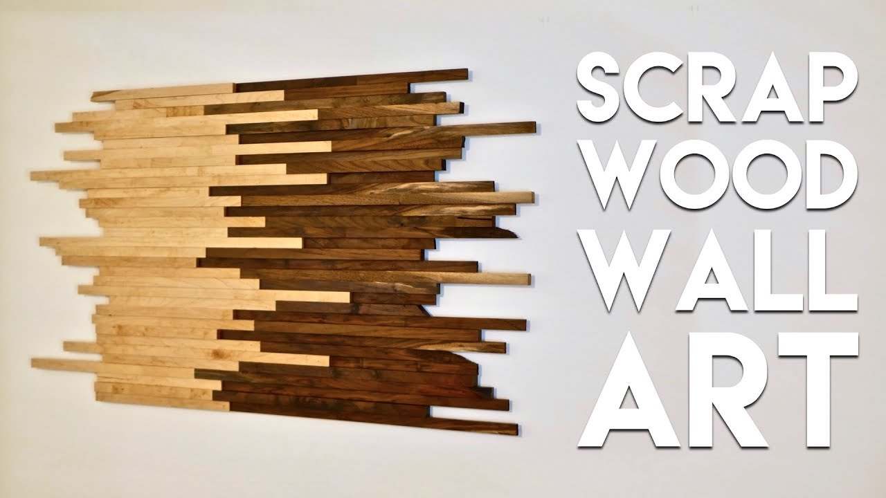 Captivating Scrap Wood Wall Art Made From Walnut U0026 Maple | How To Build   Woodworking