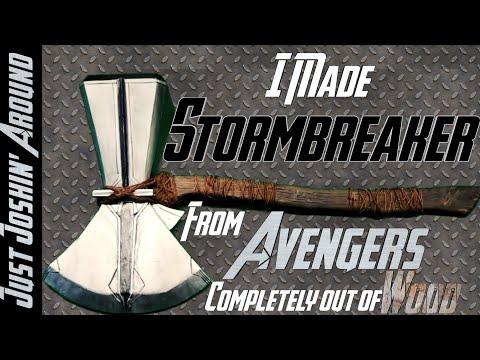 DIY Stormbreaker from Avengers Endgame & Infinity War // Custom Prop Replica // Just Joshin' Around