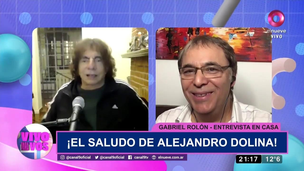 Gabriel Rolón y Alejandro Dolina se encontraron en Vivo para Vos