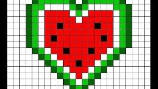 Рисуем по клеточкам сердечко/5 видео урок