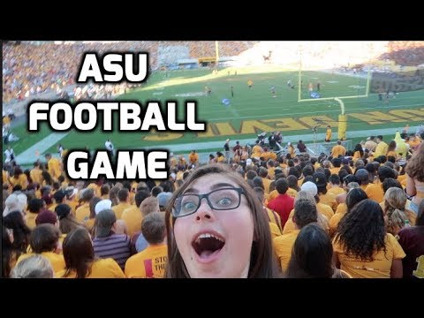 My FIRST College Football Game Vlog // Arizona State University