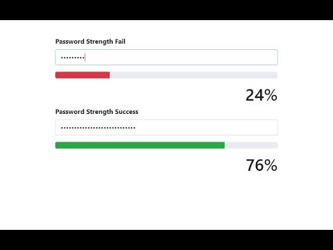 Password Strength with jQuery