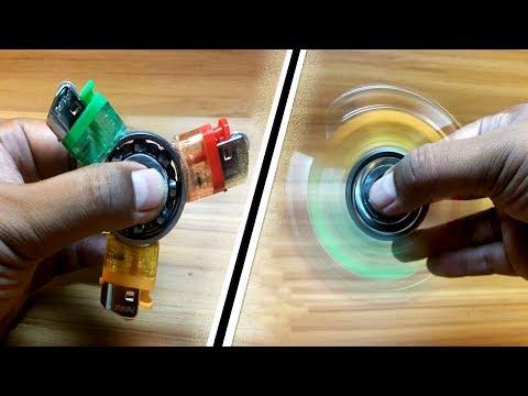 DIY Fidget Spinner -2 Ways to Make Homemade Fidget Spinner Toys! Do It Yourself