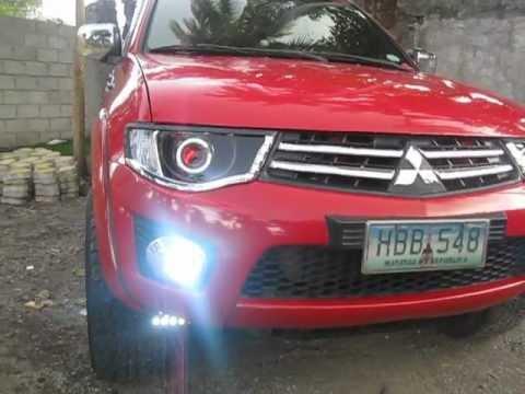 Mitsubishi Triton Projector Headlight Demon Eye Led Tail