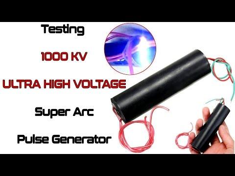 Testing 1000 KV Ultra High Voltage Super Arc Pulse Generator