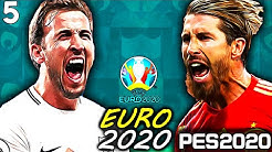 England vs Spain - Quarter final - #5 EURO 2020 England Series - PES 2020