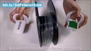 Da Vinci Jr 1 0 3D Printer Refill Filament Tutorial