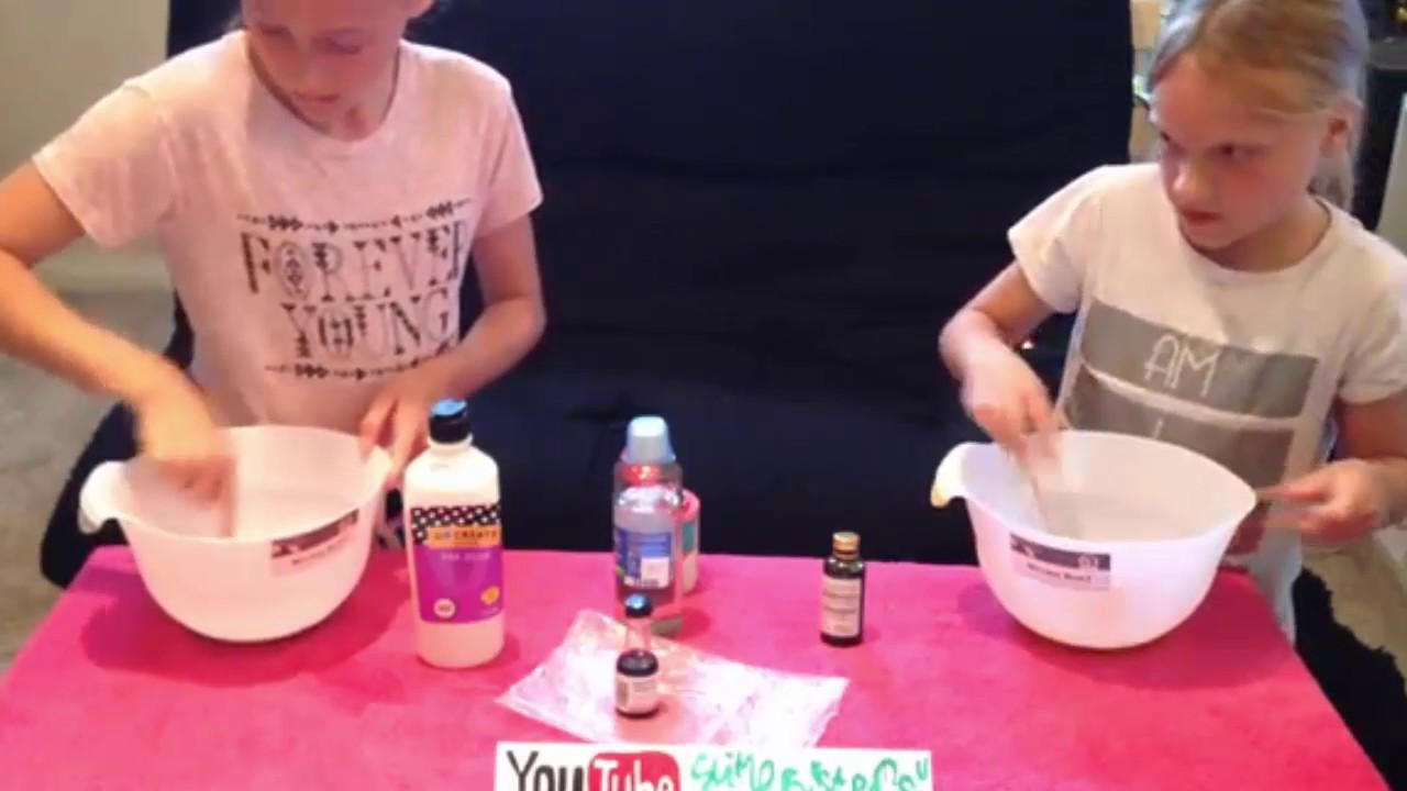 how to make slime with eye wash and glue