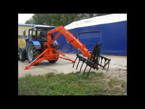 ЭП-Ф-1БМ на тракторе Беларус 1221