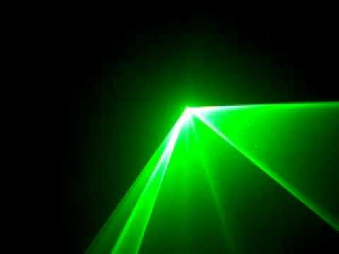 Đèn laser sân khấu xanh 30mw cảm ứng theo nhạc - Den vu truong