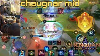 Cách lên đồ Chaugnar Mùa 16 - bảng Ngọc và cách Chơi Chaugnar đi mid mạnh nhất liên quân mobile AOV
