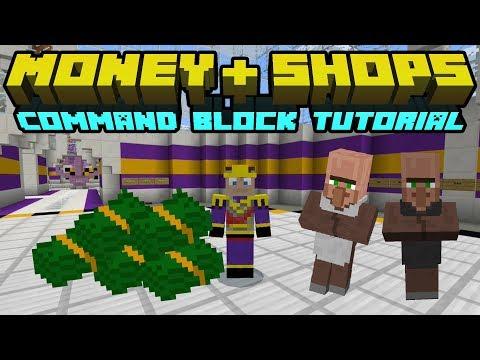 Money + Shops On Bedrock Using Commands