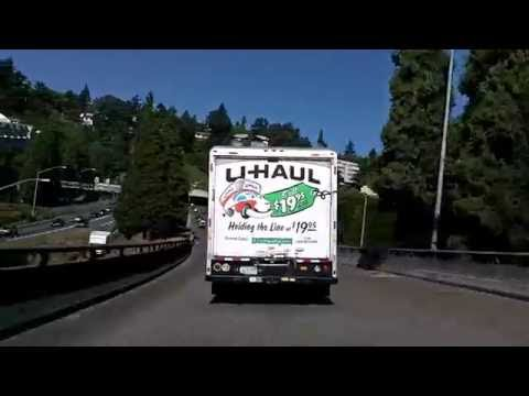 Portland to the Coast, Part 1: Drive through Portland, out US 26 Time Lapse