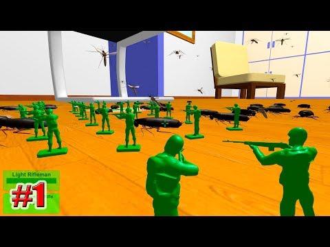 СОЛДАТИКИ ПРОТИВ НАСЕКОМЫХ!!! Home Wars (1 серия)