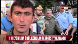 1 Milyon lira ödül konulan terörist yakalandı