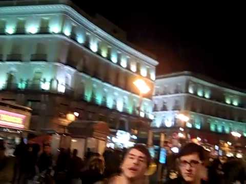 Downtown Madrid, Spain, on a bustling Friday night.