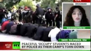 POLICE Pepper Spraying Peaceful Students @University of California, Davis.