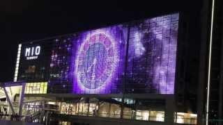 天王寺ミオプラザ館の南側壁面に巨大LEDディスプレーが登場!The giant LED display of Tennoji Mio