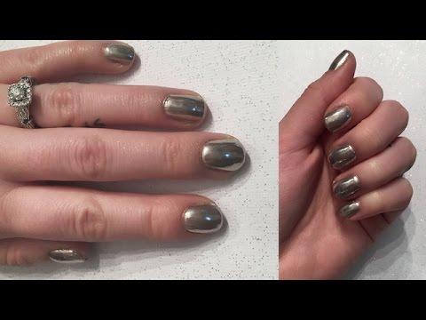 Chrome Mirror Nails Sensationail Gel Nails Youtube