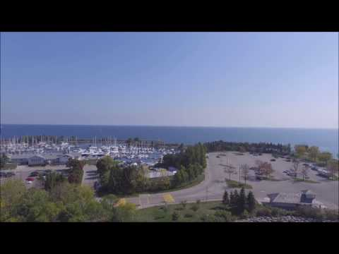 Aerial View of Port Credit Yacht Club and MSC - 2016-10-06