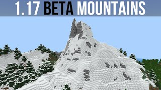 Minecraft 1.17 Beta : Mountains & Cliffs First Look!