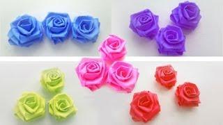 Repeat youtube video Episodio 639 - Cómo hacer rosas pequeñas con tiras de papel - manualidadesconninos