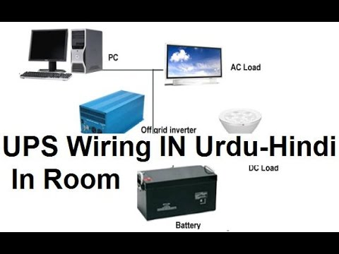 Automatic UPS Wiring For Single Room In Urdu & HIndi  YouTube