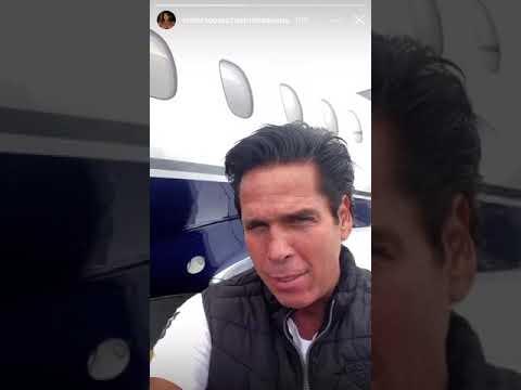 Roberto Palazuelos escapa de huracán Delta en jet privado