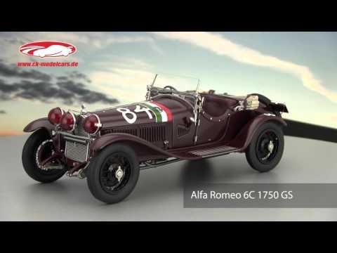 ck-modelcars-video: Alfa Romeo 6C 1750 GS #84 Winner Mille Miglia 1930 Nuvolari, Guidotti  CMC