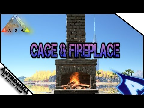 ARK Survival Evolved | Patch 227 | Stone Fireplace | Wood Cage ( How to make them )