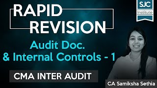 Rapid Revision | Audit Doc. and Internal Controls - 1 | CMA Inter | Dec 2020 | Samiksha Sethia | SJC