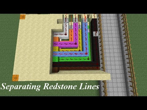 minecraft separating redstone wires tutorial youtube rh youtube com Redstone Lamp Redstone Circuits
