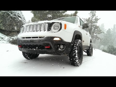 Jeep Renegade Lifted >> Snowy Bee Canyon X4 Speed Jeep Renegade Lift Kit Mud Tires Youtube