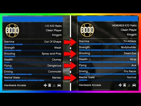 How To Max ALL Of Your Stats In GTA Online The Fastest Way Possible - EASY Way To Level GTA 5 Stats!