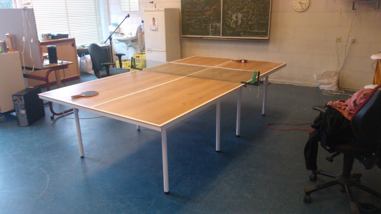 Making A Tabletennis Table   YouTube
