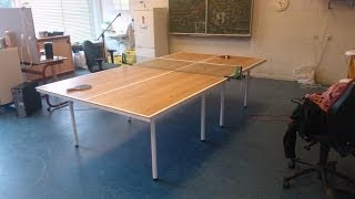 Making a tabletennis table
