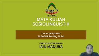 Download Pengantar Perkuliahan Sosiolinguistik