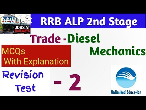 Revision Test - 2| Diesel Mechanics Trade Lecture for RRB ALP CBT2 |Diesel Mechanics for ALP Paper 2