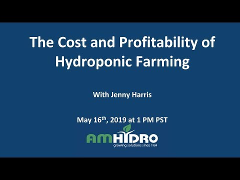 Cost and Profitability of Hydroponic Farming